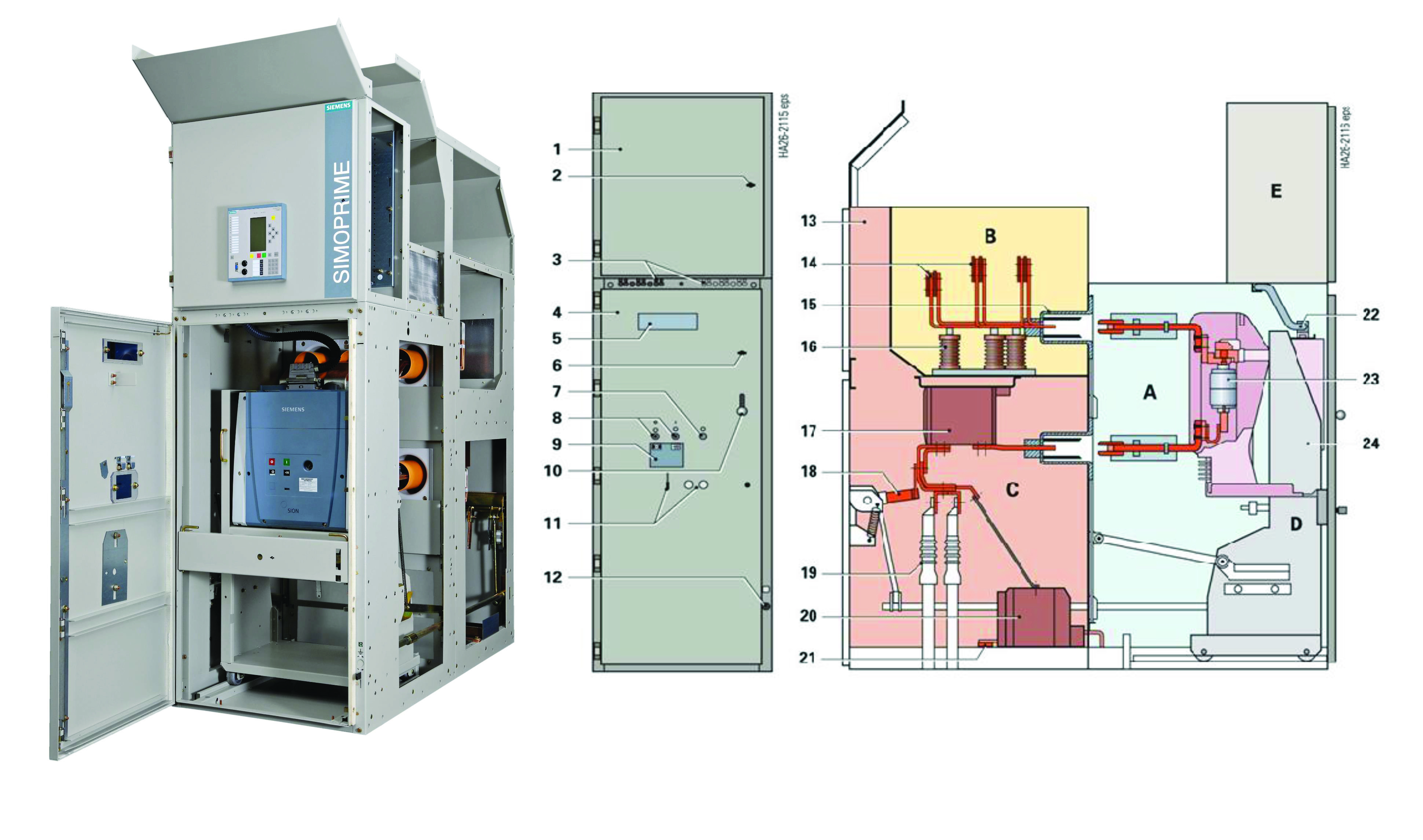 Simoprime is air-insulated, metal clad, factory assembled switchgear for  indoor installation.