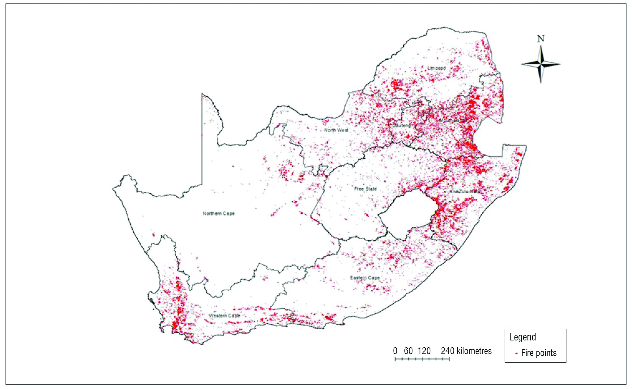 A spatio temporal analysis of fires in South Africa   EE Publishers