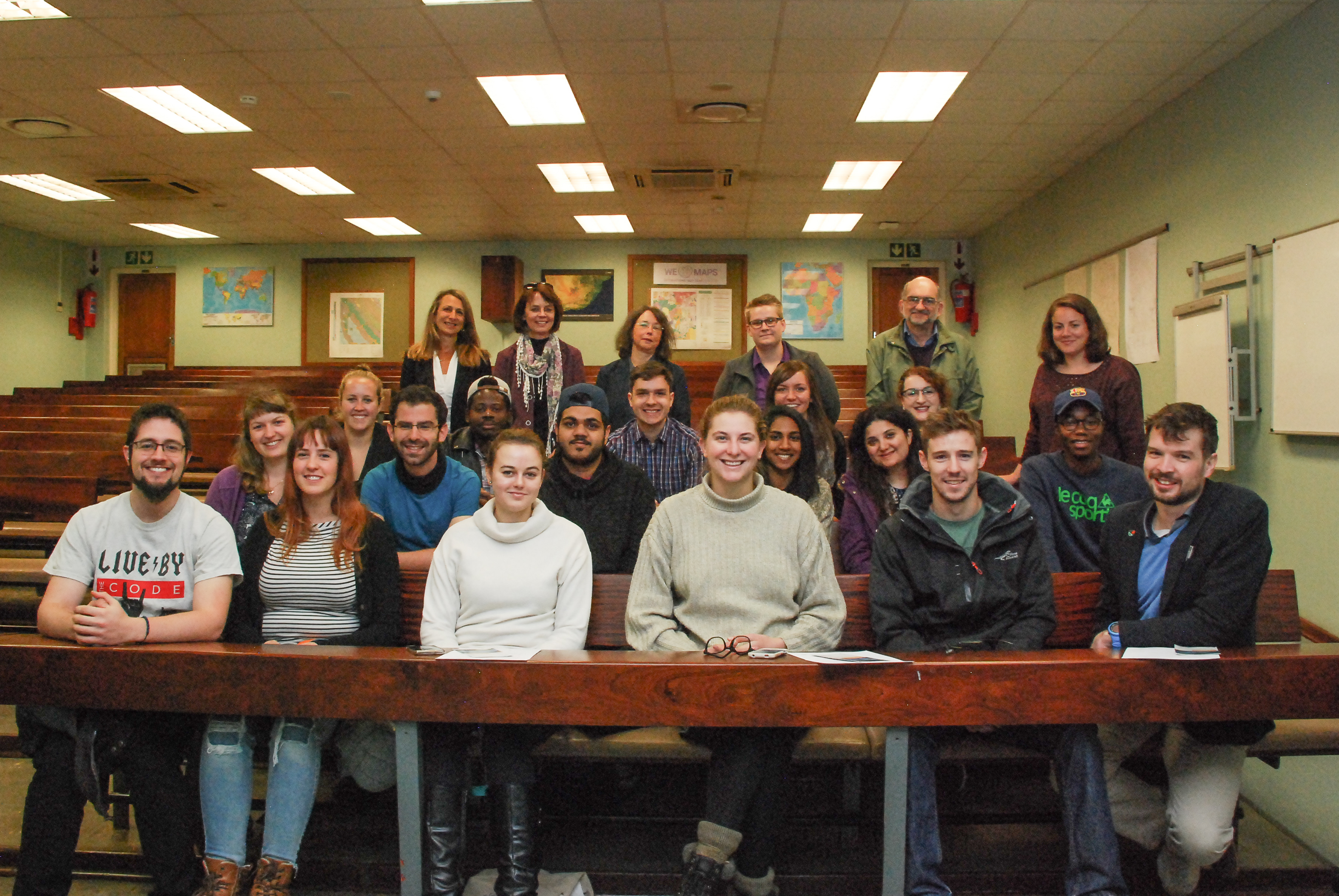 Student participants, with the programme coordinators and assisting staff members behind them, as well as Dr. Lisette Andreae, the German Embassy's Head of Science and Education (back row left).
