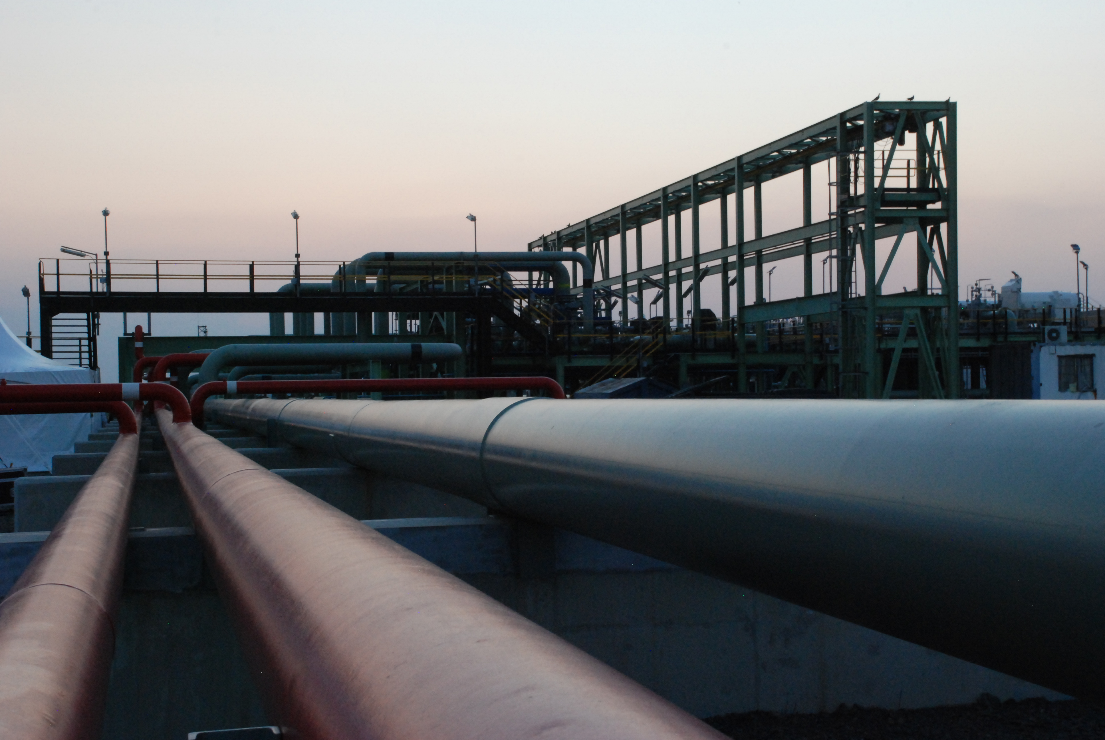 Fig. 2: Some of the fuel transport pipelines at Transnet's Jameson Park inland accumulation facility.