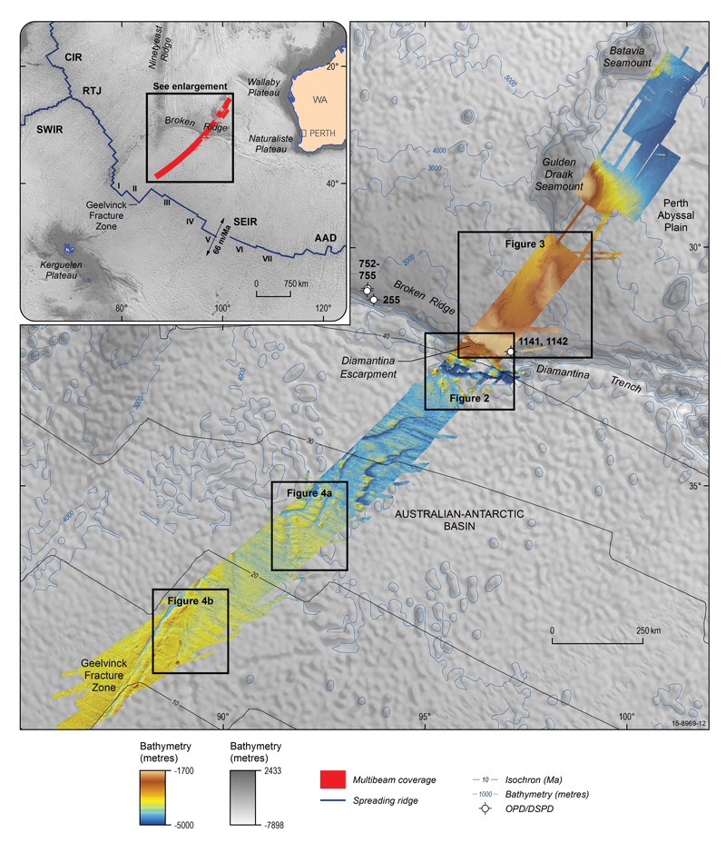 Geological insights from the search for Malaysia Airlines