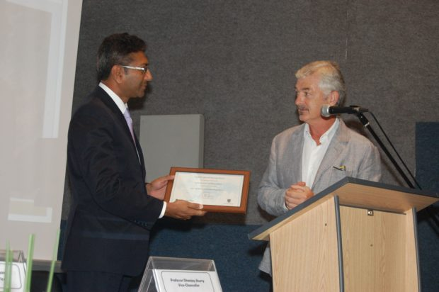 Prof. Dhanjay Jhurry and Patrick McKivergan.