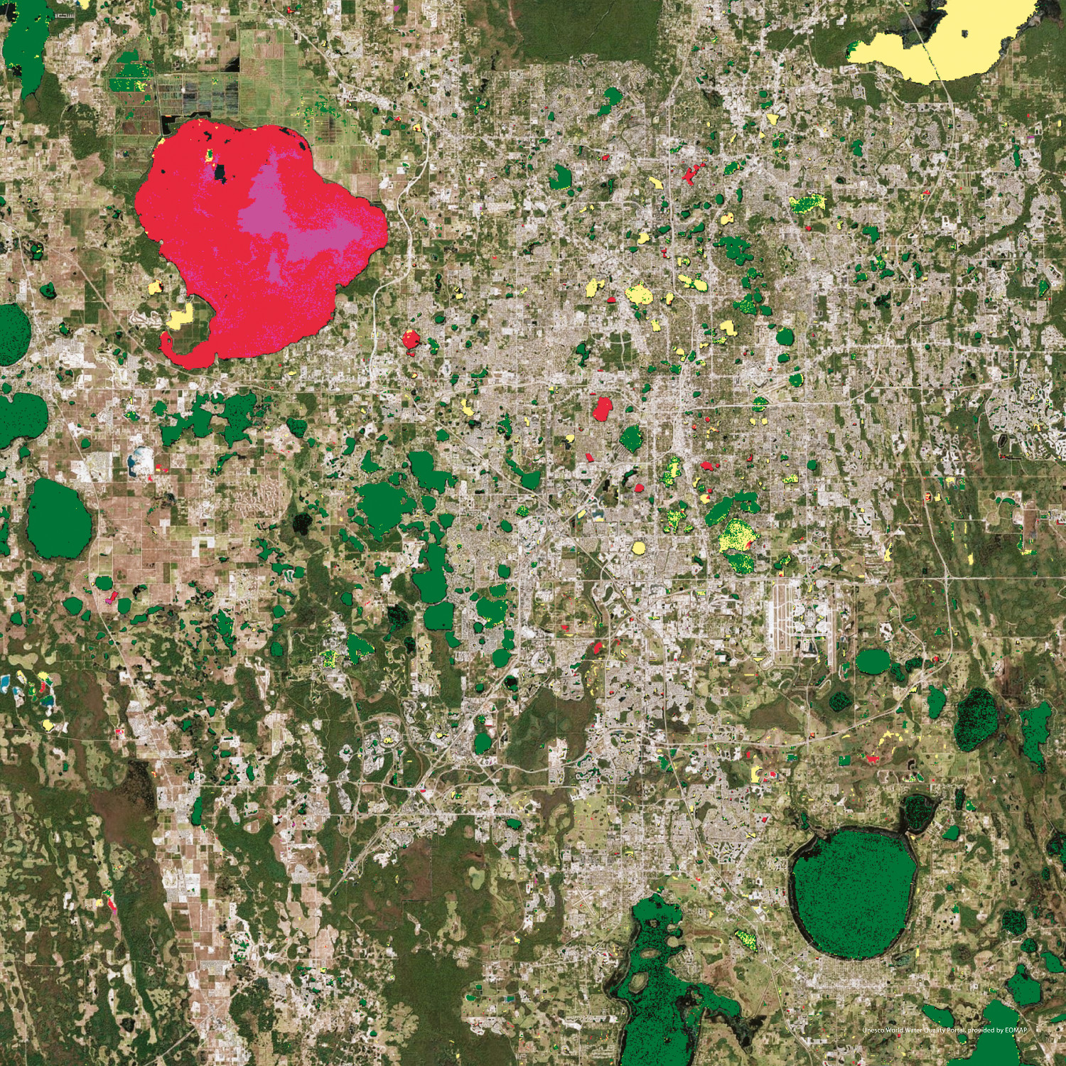 Florida Lakes, USA, World Water Quality Portal, UNESCO-IHP IIWQ (Credit: Eomap)