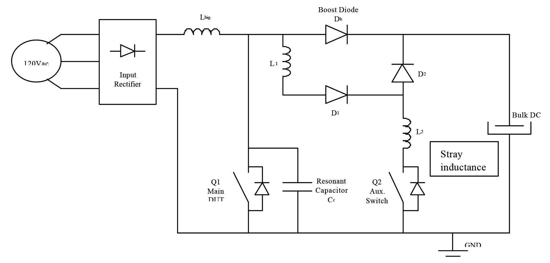 Igbt Or Mosfet Choose Wisely Ee Publishers Voltage Switch Circuit 4 A Typical Zvs Pfc The Auxillary At Q2 Is Used To Reset Boost Diode Ensure That Main Q1 Only Switched During Zero