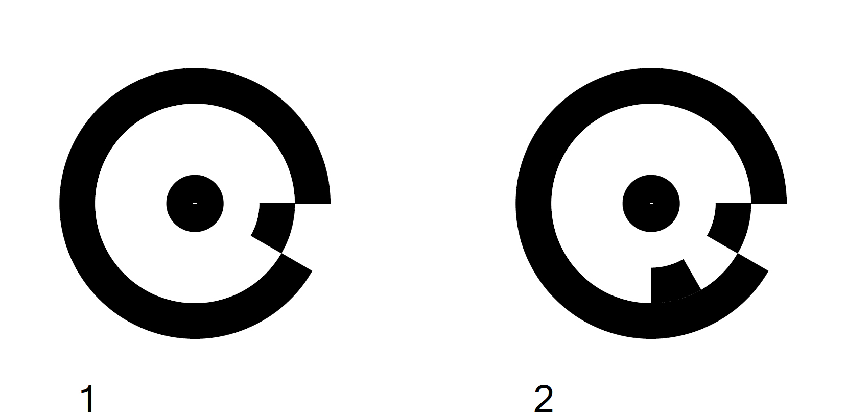 Fig. 1: An example of two RAD targets.