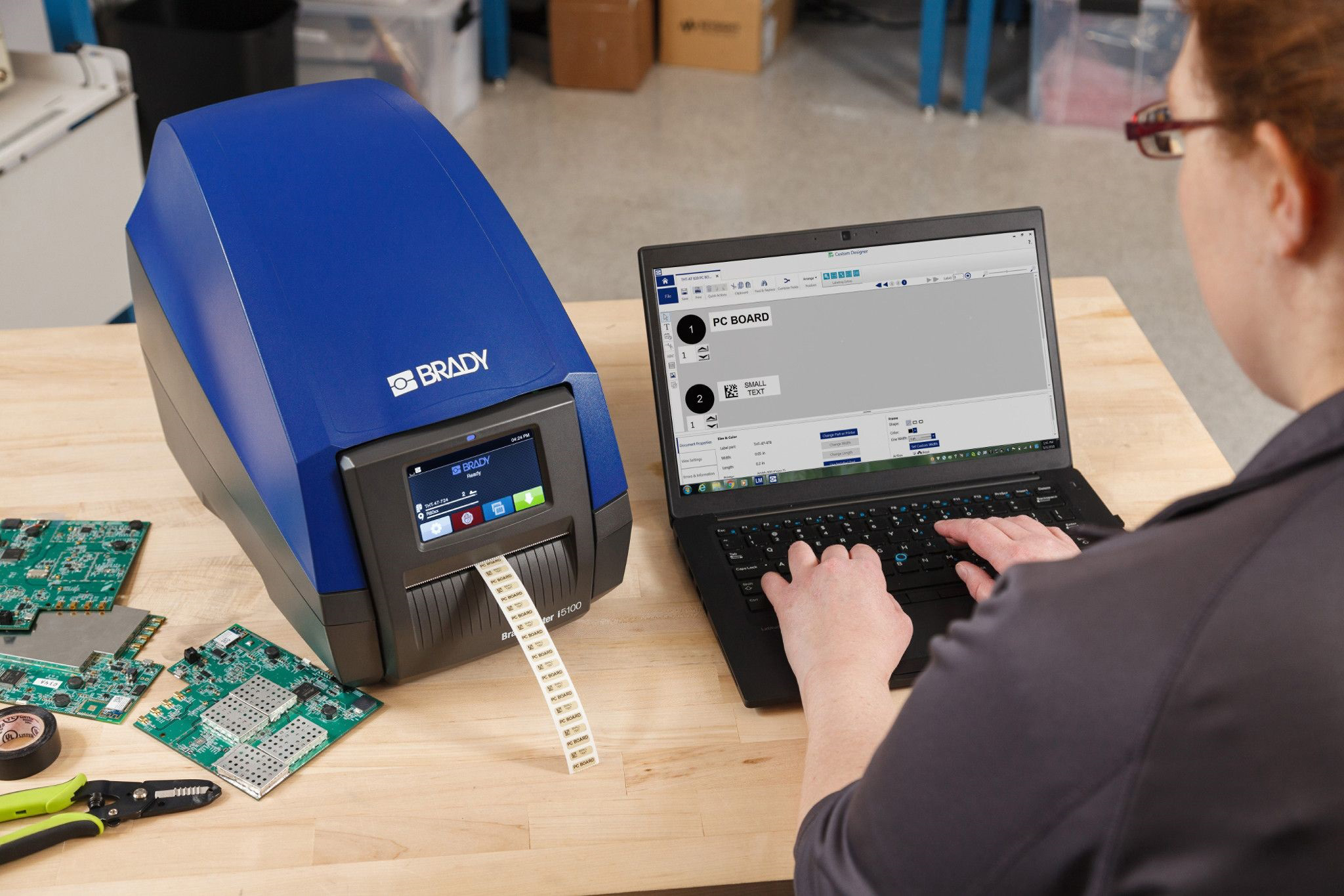 Smart, easy-to-use industrial label printer - EE Publishers
