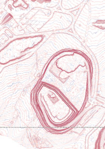 Fig. 5: A 3D view of part of the contour map.