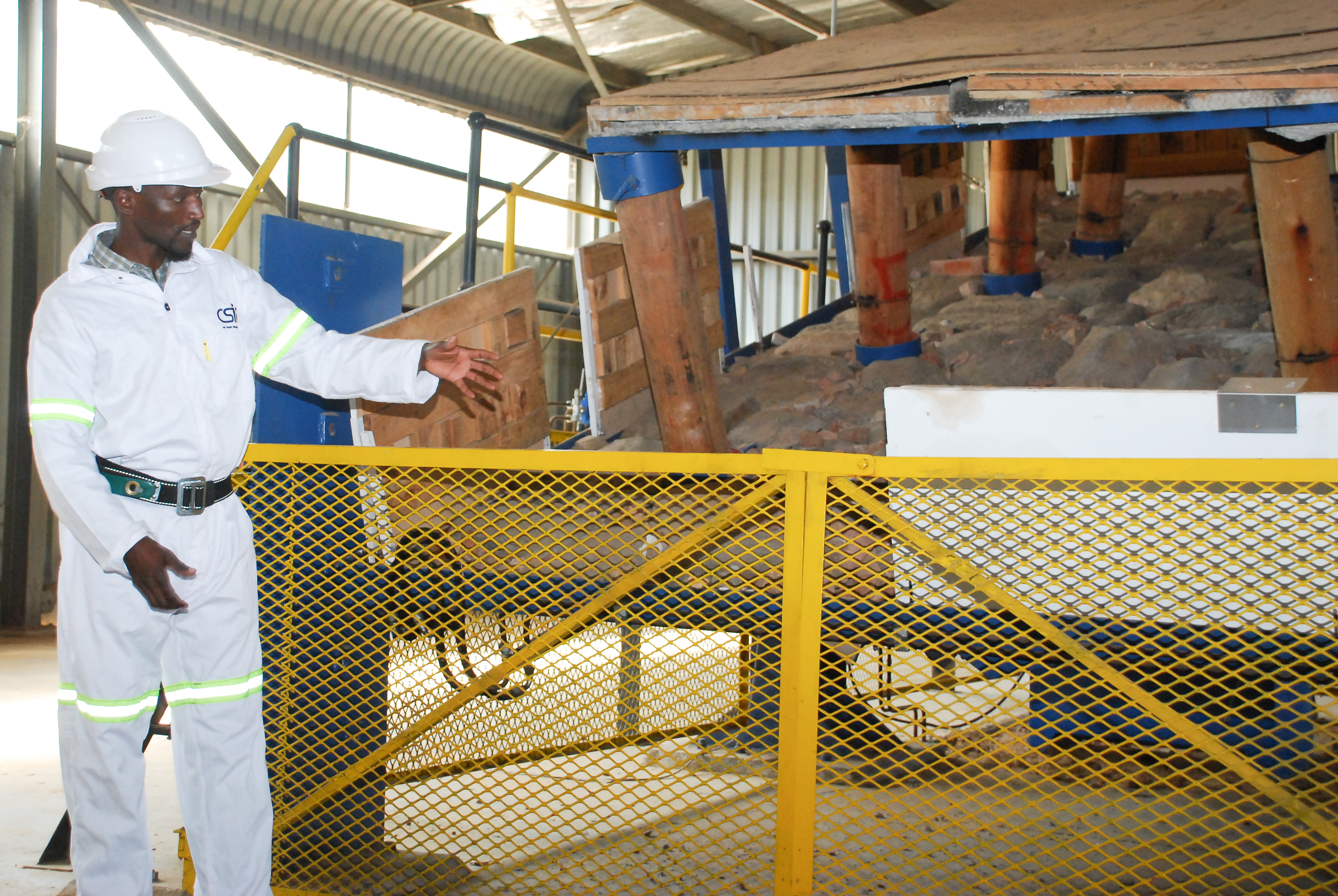 A stope simulator at the Mandela Mining Precinct where research projects can be put to the tested.
