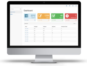 Fig. 5: The dashboard displayed and summarised the field data in real-time for the offsite team.