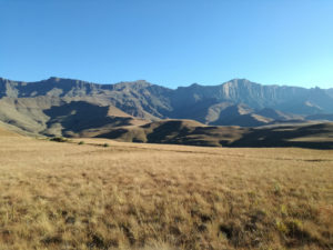 Fig. 5: The Drakensberg Mountains where search and rescue trials were conducted using drones. (Credit: D. Jewitt)