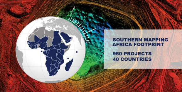 Fig. 1: Southern Mapping continues to grow its footprint throughout Africa and beyond.