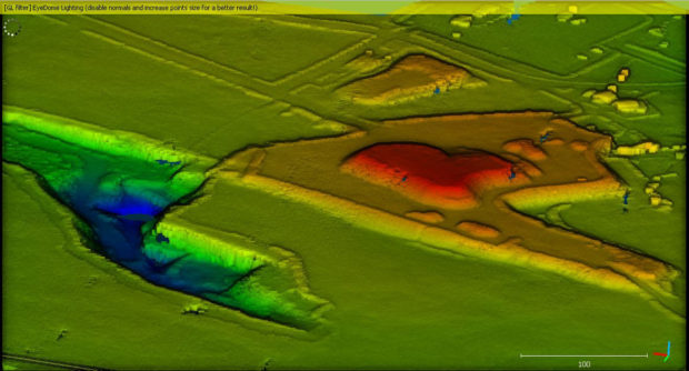 Fig. 4: A digital surface model (DSM) based on lidar data.
