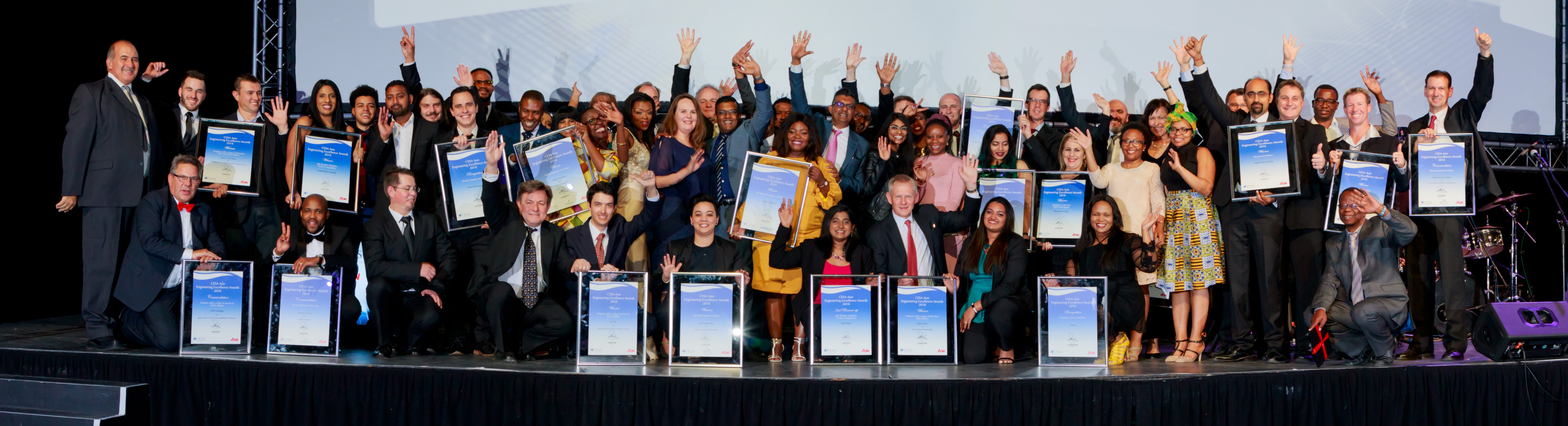 CESA Aon Awards winners of 2018.