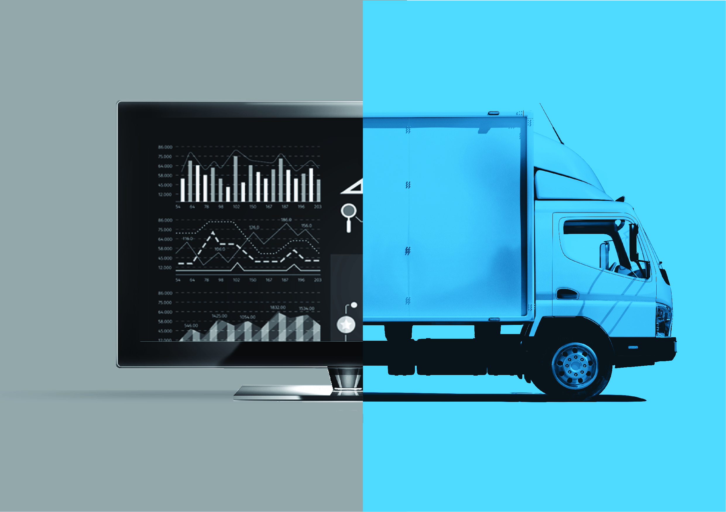 Fig. 1: GIS can help optimise supply chain and logistics.