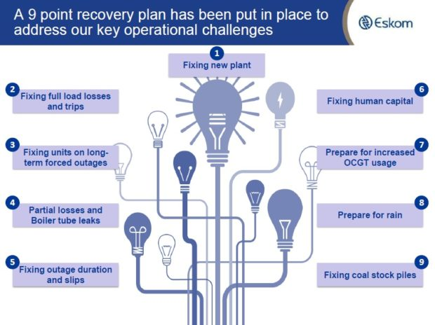 Light at the end of the tunnel? Eskom reveals recovery plan