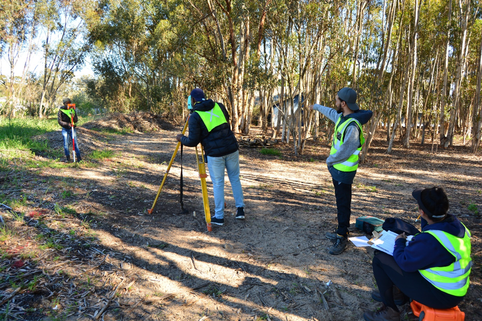 Fig. 3: Second year students performing a detailed survey of a site at the West Coast Fossil Park.