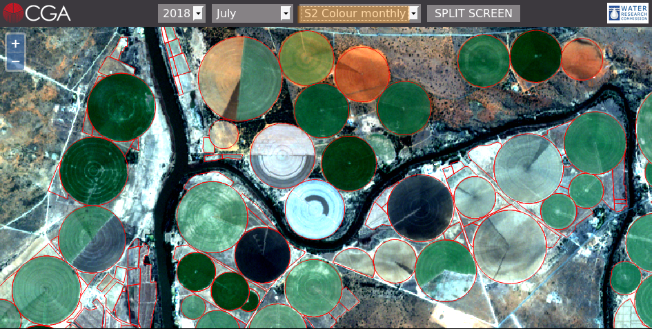 Fig. 6: True colour Sentinel-2 imagery for July 2017.