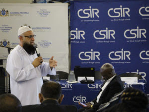 MEC for Roads and Transport in Gauteng, Dr Ismail Vadi speaking at the official launch of the survey in Pretoria.