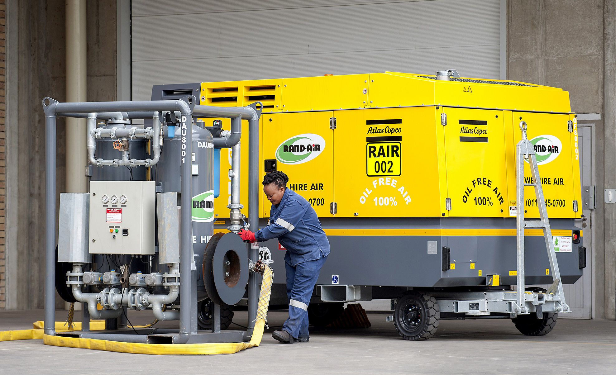 98d1d5073dfb2 Local provider of portable air and power Rand-Air was recently requested to  hire two diesel oil-free compressors to a local facilities management  company