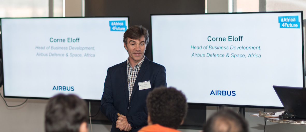 Airbus Defence and Space's Corné Eloff.