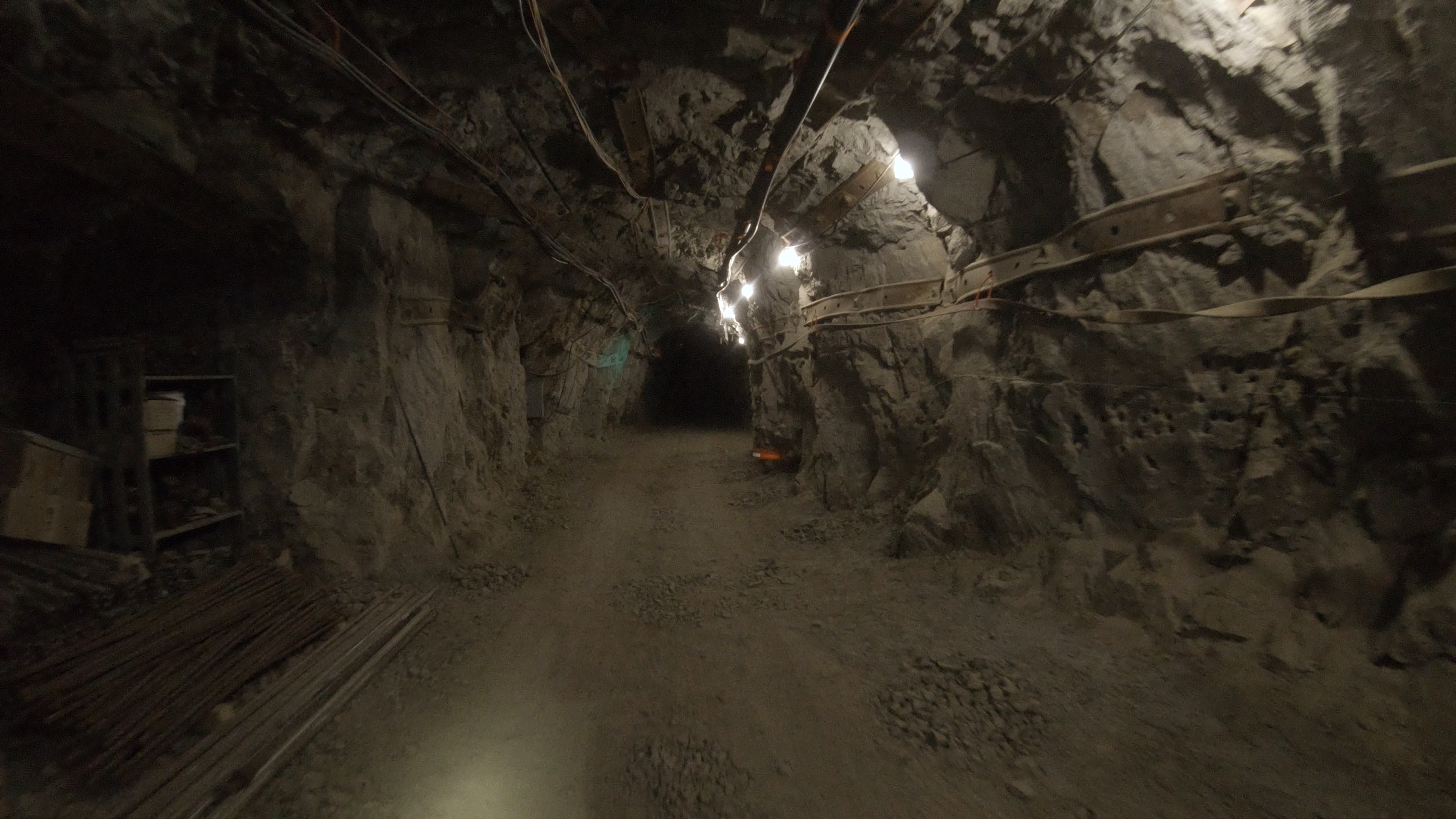 A passage at Edgar Experimental Mine in Idaho Springs, Colorado, where the SubT Integration Exercise took place in April 2019.